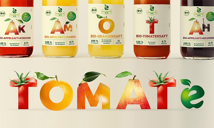 Schriftzug Tomate